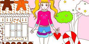 Hra - Vymaľuj bábiku