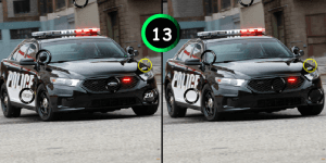 Hra - Police Car 7 Differences