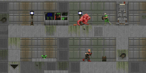 Hra - Flash Doom 2D