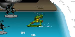 Hra - NINJA TURTLES SEWER SURF SHOWDOWN