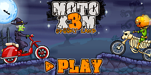 Hra - Moto X3M Spooky Land