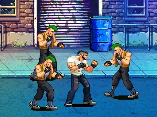 Hra - Beat Em Up Street fight 2D
