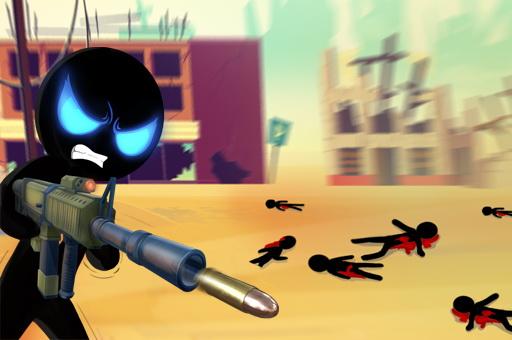 Hra - Stickman Armed Assassin Going Down